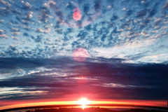 Sunset colorful sky. Beautiful colorful sky. Sky background Royalty Free Stock Images