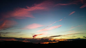 Sunset. Colorful sunset to the clouds Stock Photography