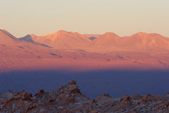 Sunset colors in Atacama Desert, Chile Royalty Free Stock Images
