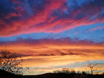 Orange sunset. Beautiful sunset Colors Stock Images