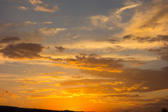 Sunset colors in the desert Royalty Free Stock Photo