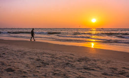 Sunset colors in goa Stock Photography