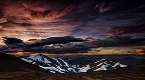 Sunset colors. The colors of sunset on the mountain. Alps, Hochschwab mountains stock photos