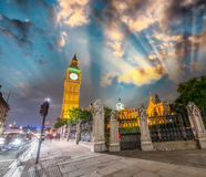 Sunset colors over Westminster Palace and Big Ben. View from Bri Stock Photography