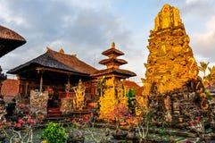 Sunset colors in Saraswati Temple in Ubud, Bali Stock Images