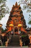 Sunset colors in Saraswati Temple in Ubud, Bali Royalty Free Stock Images
