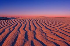 Sunset Colors of White Sand Dunes Royalty Free Stock Photo