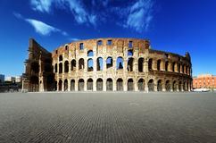 Sunset and Colosseum in Rome Royalty Free Stock Image
