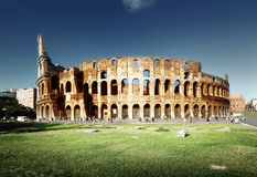 Sunset and Colosseum in Rome Royalty Free Stock Photo