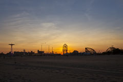 Sunset on Coney Island Stock Image