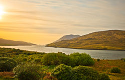 Sunset in Connemara, Ireland Stock Images