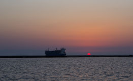 Ship on the Twilight Stock Photography