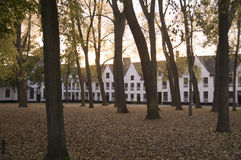 Sunset at the convent in Bruges Belgium Stock Image