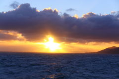 Sunset in Cook Strait New Zealand Royalty Free Stock Images