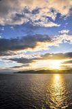 Sunset at Cook Strait, New zealand. Sunset at Cook Strait from the ferry, New zealand Stock Images