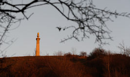 Sunset at Coombe Hill Memorial in the Chiltern Hills Stock Images