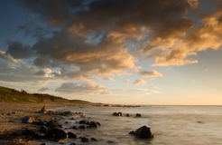 Sunset of coral reef coastline Royalty Free Stock Photos