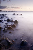 Sunset of coral reef coastline Royalty Free Stock Photography