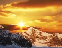 Sunset in Cordilleras Stock Image