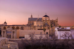 Sunset in Cordoba, Andalusia, Spain Royalty Free Stock Photos