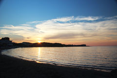 Sunset in Corfu Stock Images