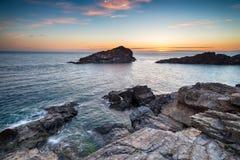 Sunset on the Cornwall Coast Royalty Free Stock Image