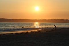 Sunset at Coronado Resort, California Royalty Free Stock Image