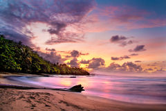 Sunset in Costa Rica royalty free stock photography