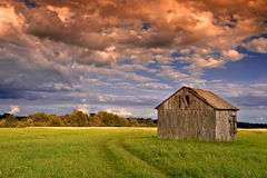 Sunset in the country stock photos