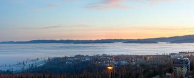Sunset country panorama. stock image