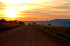 Sunset Country Road Royalty Free Stock Image