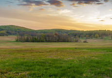 Sunset at country side. Sunset at the country side near Washington Memorial Chapel,  Valley Forge Royalty Free Stock Photography