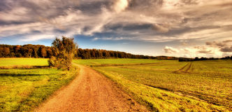 Sunset in the countryside Royalty Free Stock Image