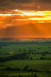 Sunset in countryside Royalty Free Stock Photos