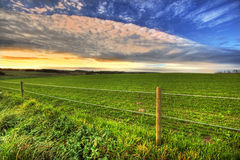 Sunset at the countryside Royalty Free Stock Image
