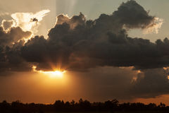 Sunset countryside Royalty Free Stock Photography