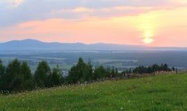 Sunset countryside landscape Stock Photo