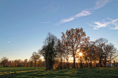Sunset in the countryside Royalty Free Stock Images