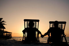 Sunset Couple Stock Image