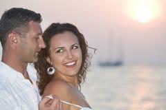 Sunset couple Stock Photography