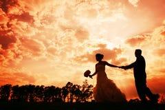 Sunset Couple Stock Image