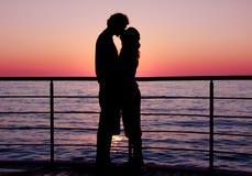 Sunset couple Royalty Free Stock Photography