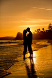 Sunset couple Royalty Free Stock Images