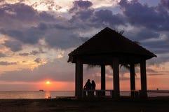 Sunset & Couple Stock Photography