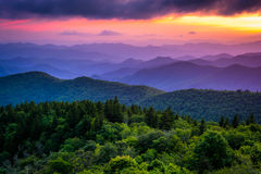 Sunset from Cowee Mountains Overlook stock images