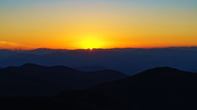 Sunset on Craggy. Craggy Pinnacle Stock Images