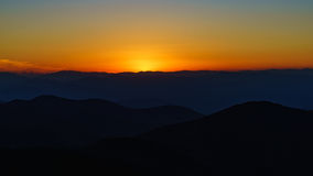 Sunset on Craggy. Craggy Pinnacle Royalty Free Stock Image