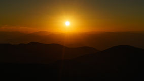 Sunset on Craggy. Craggy Pinnacle Royalty Free Stock Images