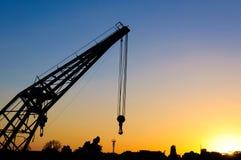 Sunset crane Stock Photo