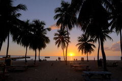 Sunset at Crash Boat Beach Stock Images